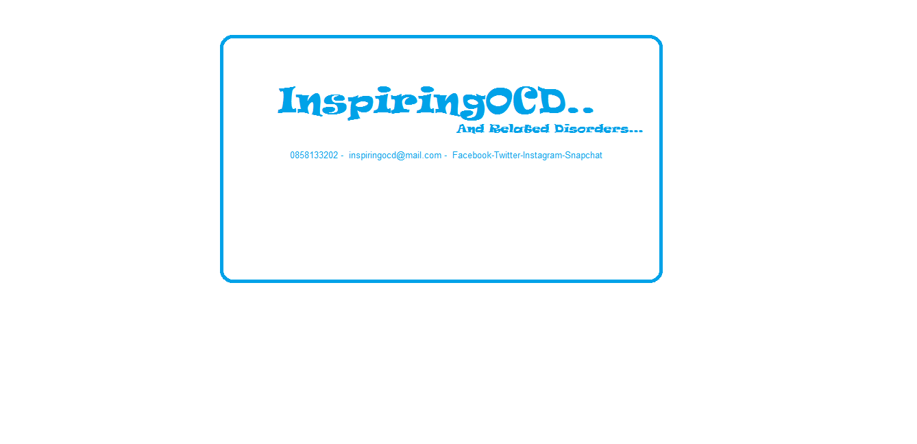 Inspiring OCD and Related Disorders.