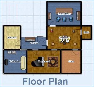 Pin recording studio floor plan on pinterest for Recording studio flooring