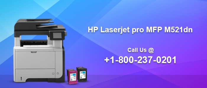 HP LaserJet Pro MFP M521dn Laser Printer Setup image 1