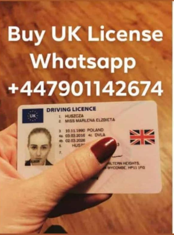 Buy Quality Registered UK and IRISH Driver's License