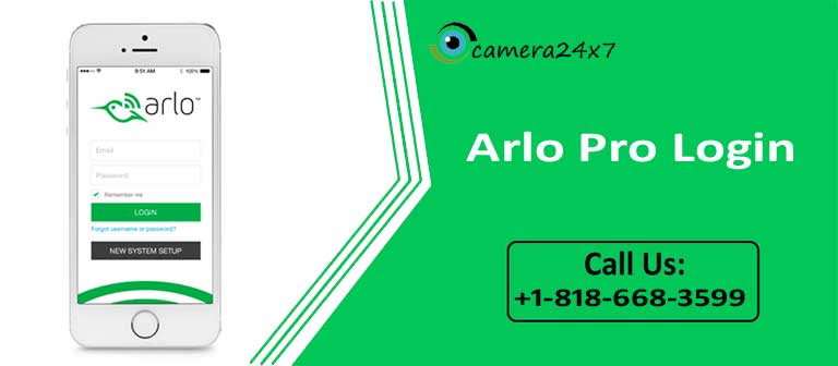 Arlo camera Problem resolution through Arlo Pro Login