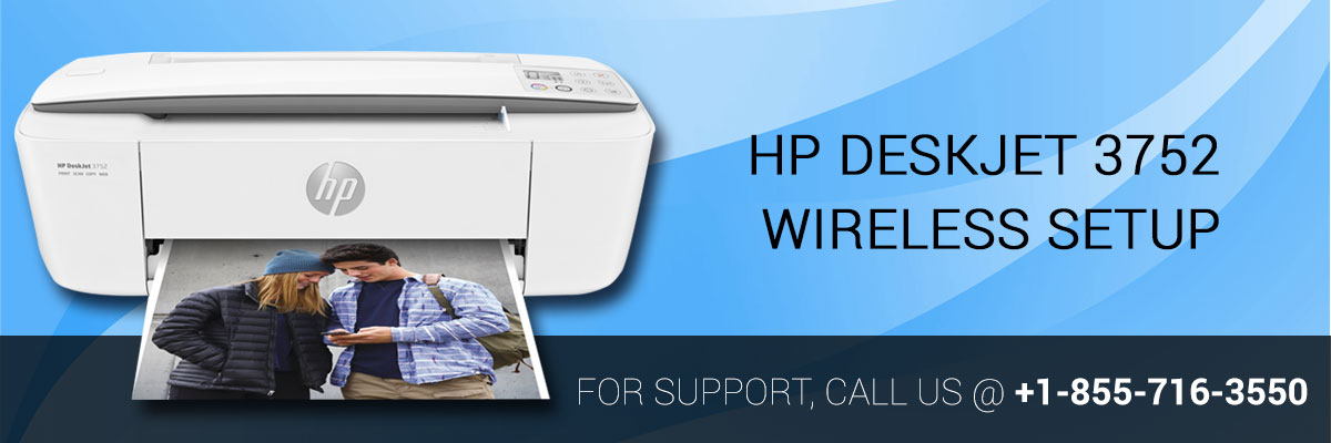 HP DeskJet 3752 Printer Wireless Setup Guide image 1