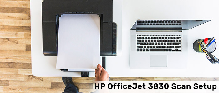 How to setup HP OficeJet 3830 Scan?