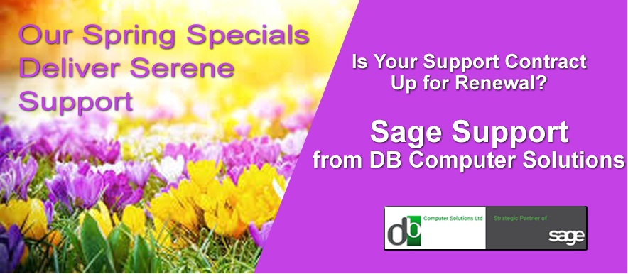 Sage Support from DB Computer Solutions Part of our Spring Specials