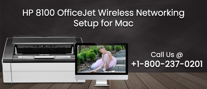 HP 8100 officejet wireless networking setup for Mac