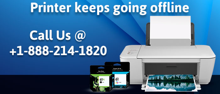 HP Printer Keeps Going Offline - Troubleshoot Helpline +1-888-214-1820