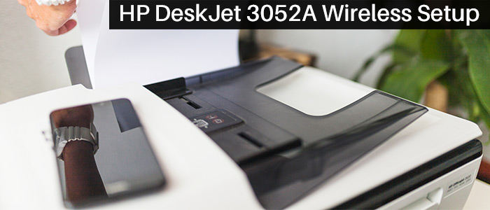 How to get guidelines for HP Deskjet 3052a wireless setup image 1