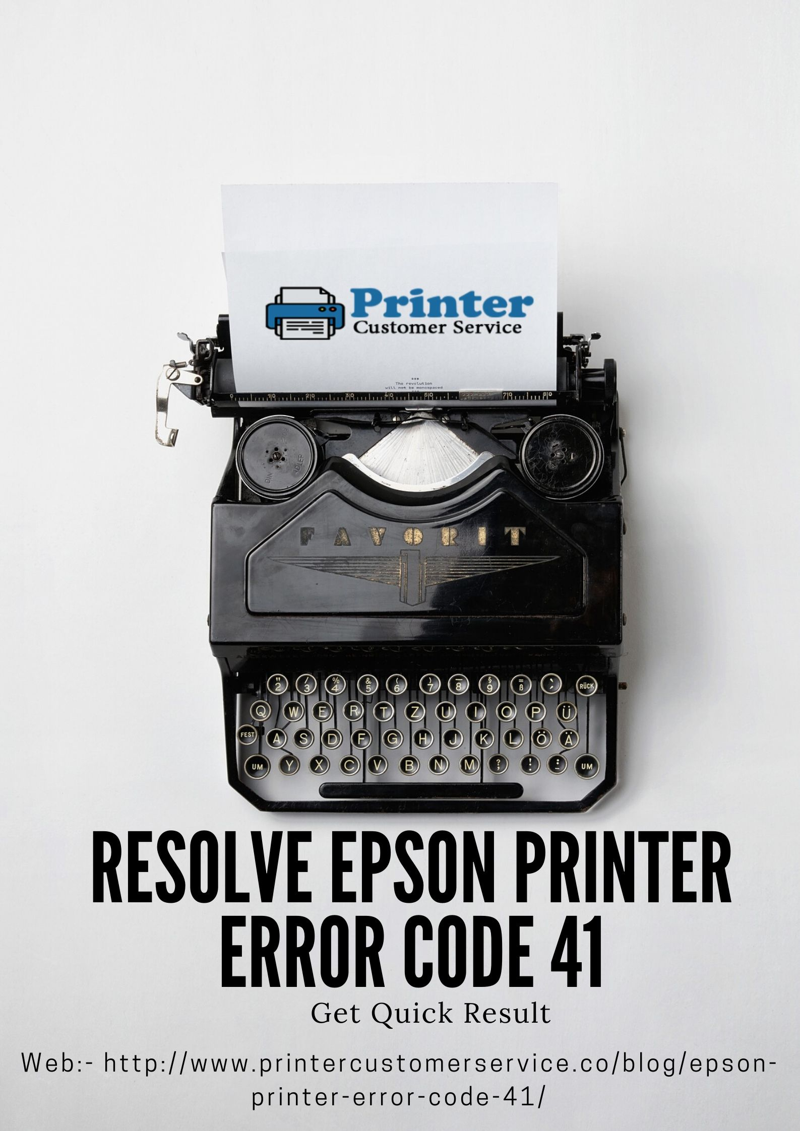 Resolve Epson Printer Error Code 41 | Get Quick Result image 1