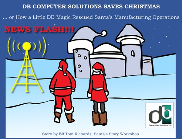 See How DB Computer Solutions Helps Santa Save Christmas
