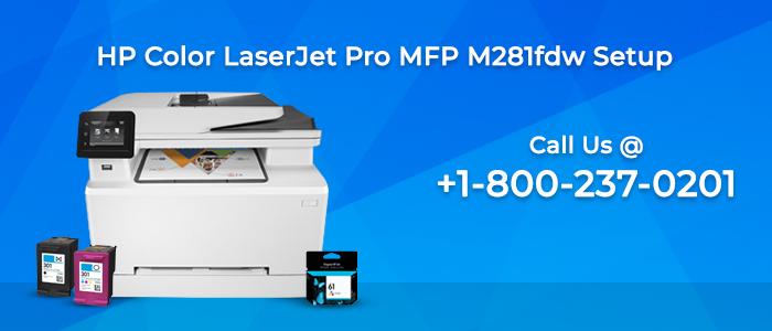 HP Laserjet Pro mfp m281fdw Wireless Printer Setup