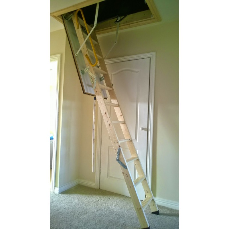 Loft ladder supplied & fitted image 3