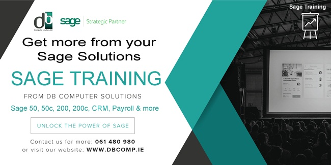 Get More from you SageSolutions with SAGETRAINING FROM DB COMPUTER SOLUTIONS