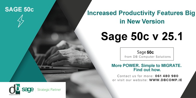 New Version of SAGE 50C FROM DB COMPUTER SOLUTIONS!