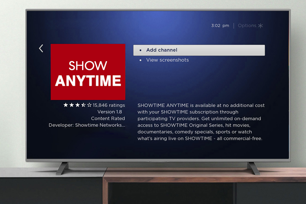 Watch Showtimeanytime.com on Roku