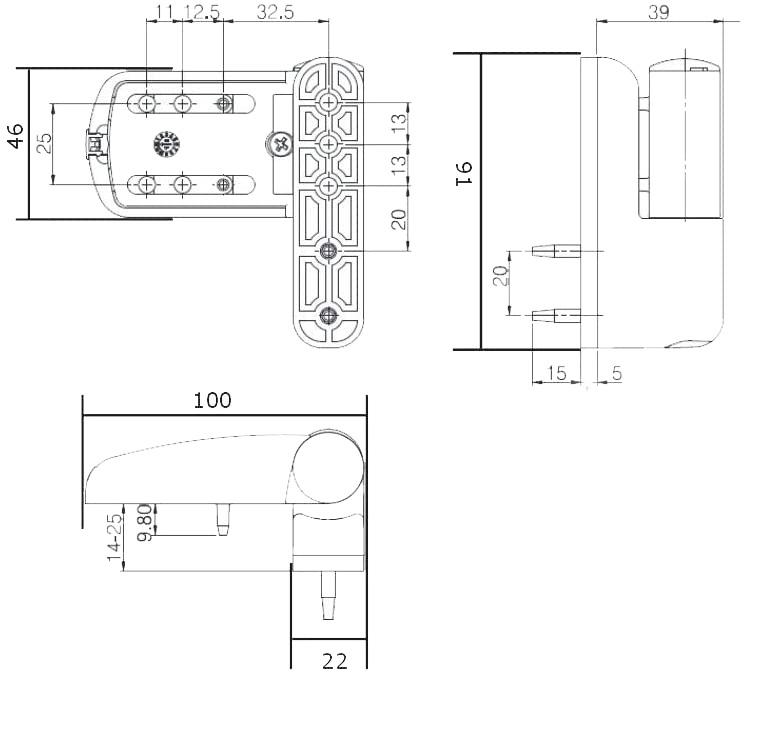 Mila Ideal Flag Upvc Door Hinge 100mm Heavy Duty image 3