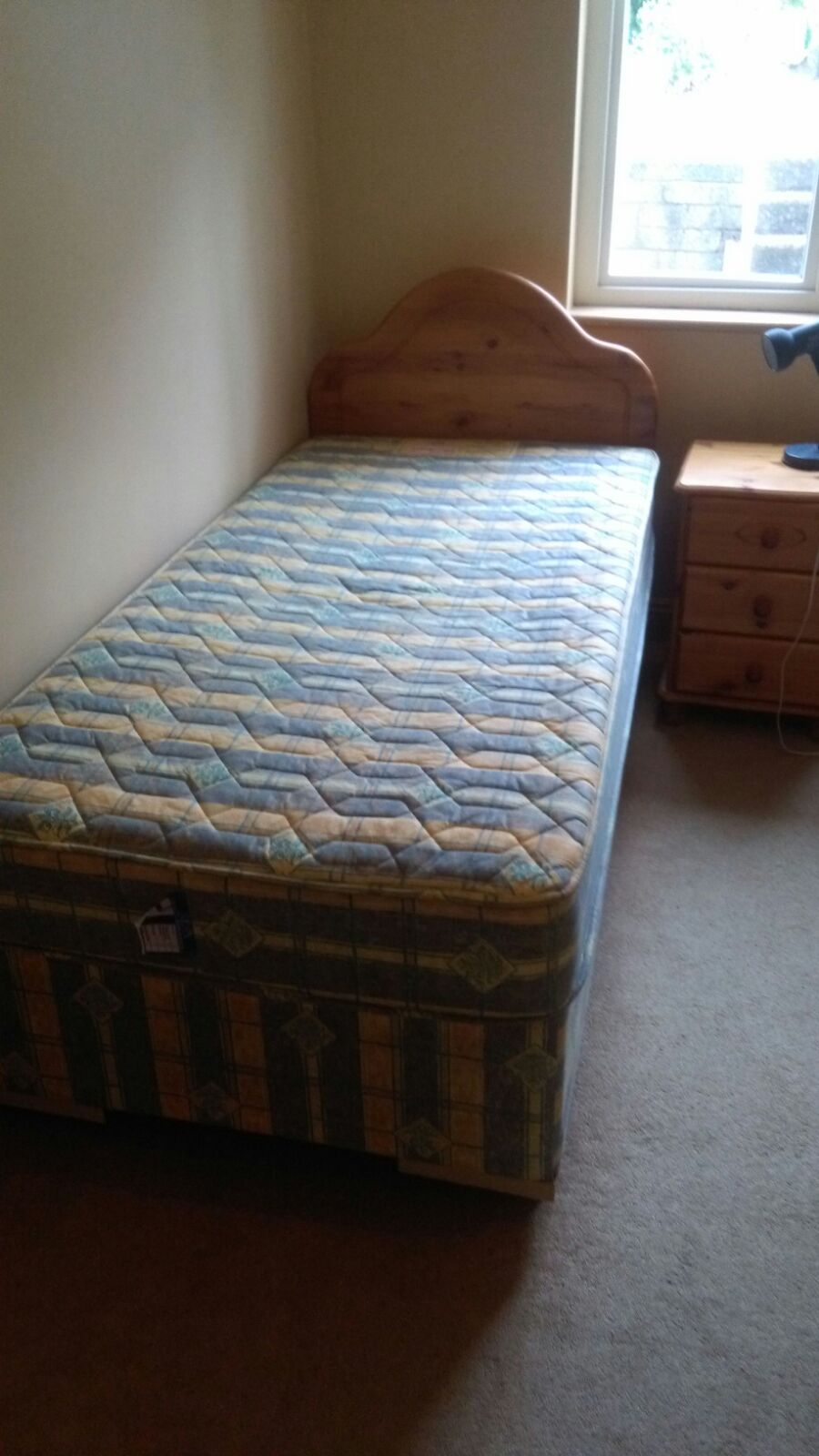 2 single beds with mattresses image 2