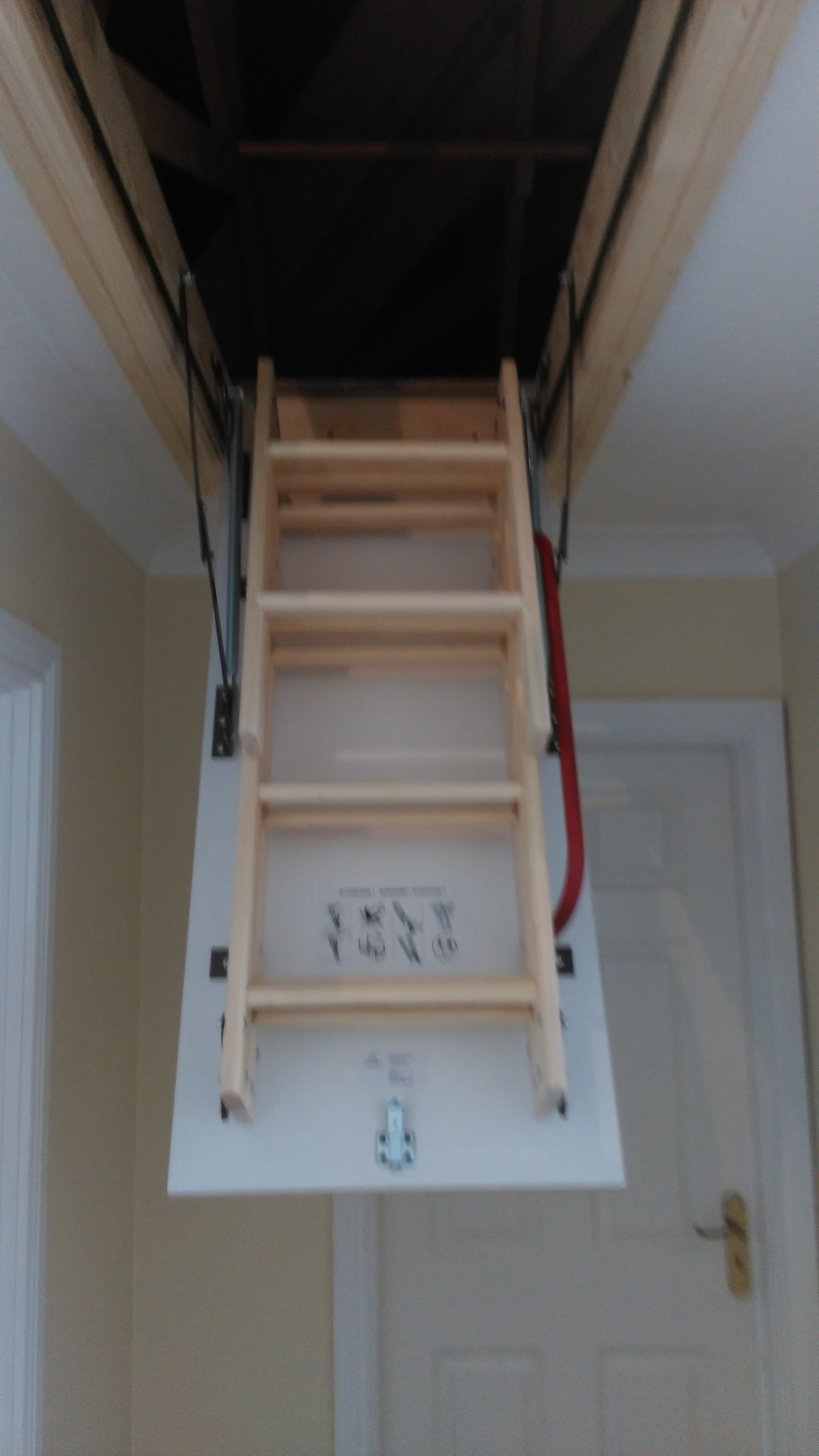 Loft ladder supplied & fitted image 2