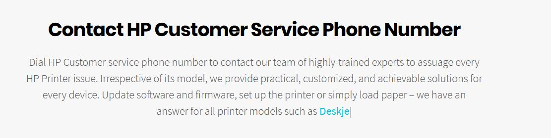 Is there any Hp printer support number available on Web ?