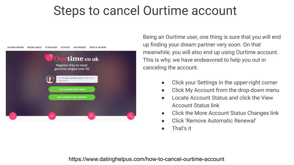 How to delete ourtime account?   Call Now +1-(804) 375-8062 image 1