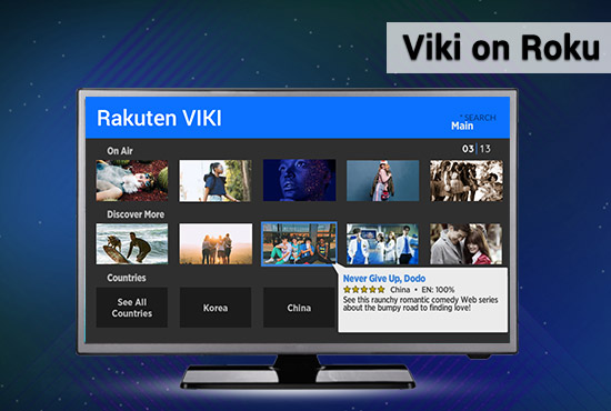 Viki channel on Roku image 1
