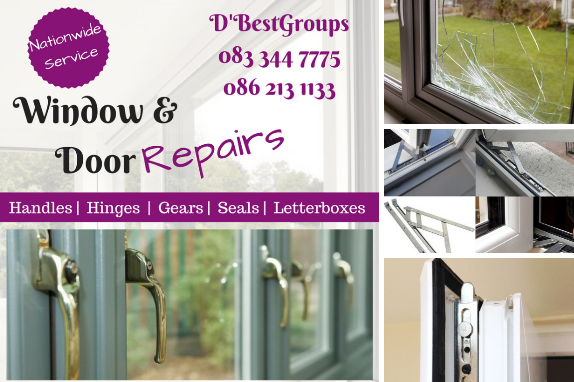 Mullingar PVC Repair Windows, Doors Fixed Handles Hinges Draught Seals Broken, foggy Glass letterbox