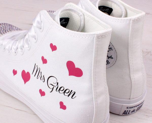 6cddfc8d944458 Personalised Wedding Shoes Personalised Bridal Converse Personalised Gifts  and Printing image 10 ...